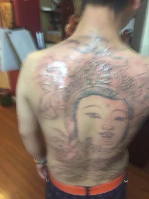 人物纹身,荷花纹身