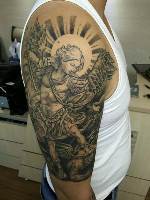 纹身图案 > tattoo纹身波塞冬  作品简介: 古希腊神话海神波塞冬与